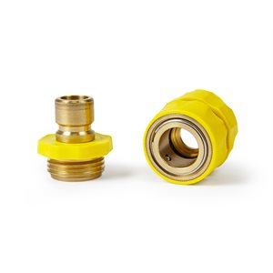 Quick Hose Connect - w / Yellow Grip w / o Auto-Shut-Off Bilingual LLC