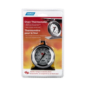 Camco Large Dial Oven Thermometer, Stainless Steel