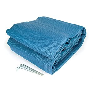 Awning Mat 9' x 12' - Blue Reversable Bilingual