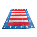 Camco RV Awning & Outdoor Mat, 9-Feet x 12-Feet, Patriotic
