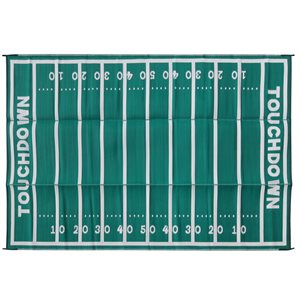 Camco Reversible RV Awning & Outdoor Mat – 8-Foot x 16-Foot, American Football Field