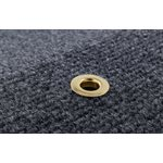 Camco RV Top Step Rug for Fold-Down Style Steps, Fits 19-Inch Wide Steps, Gray