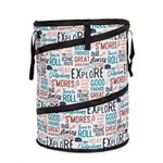 Camco Life is Better at the Campsite Pop-Up Container, 24-Inches x 18-Inches, Graffiti Design