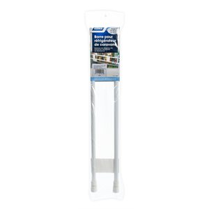 "Double Refrigerator Bar - 19"" to 34"" White Bilingual"