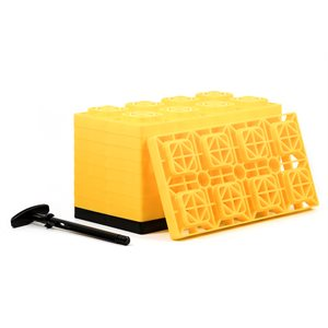 FasTen Leveling Blocks - w / T-Handle,4x2,Yellow 10 pack Bilingual