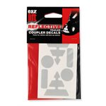 Eaz-Lift Reflective Coupler Decals for Vehicles with Back-Up Camera