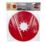 "12"" Premium Fifth Wheel Lube Plate, Red w / PTFE"
