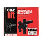 Eaz-Lift Adjustable Ball Mount with Forged Shank, 6-Inch