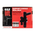 Eaz-Lift Adjustable Ball Mount with Forged Shank, 10-Inch