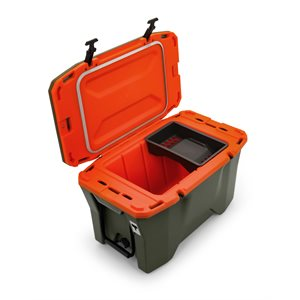 Cooler, Currituck, 30 Quart, Olive / Orange