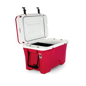 Cooler, Currituck, 30 Quart, Raspberry / White