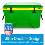 Currituck 50 Qt. Premium Cooler, Green & Yellow