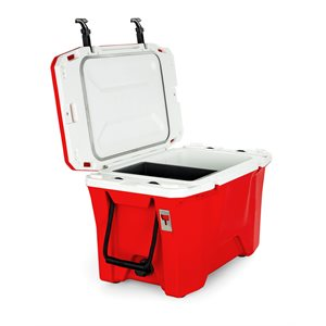 Currituck 30 Qt. Premium Cooler, Red 186 & White
