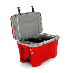 Currituck 30 Qt. Premium Cooler, Scarlet Red 200 & Gray