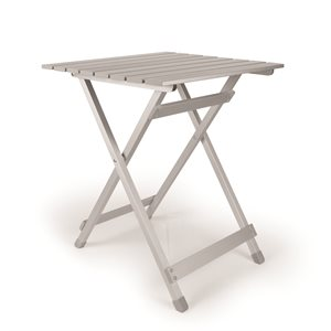 Fold-Away Aluminum Table - Large Side Bilingual