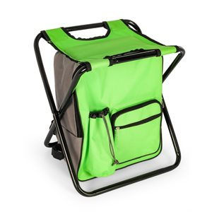 Camping Stool Backpack Cooler - Green