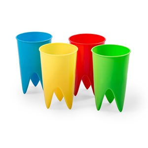 Beach Cup Holders - Yellow, Blue, Green & Red (4pk)