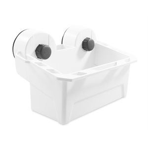 Camco Universal Mechanical Suction Cup Caddy, White