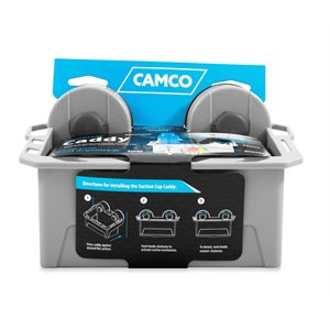 Camco Universal Mechanical Suction Cup Caddy, Gray