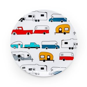 Life is Better at the Campsite Salad Plate- RV Pattern