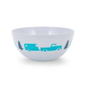 Life is Better at the Campsite Bowl- Trailer & Tree Pattern