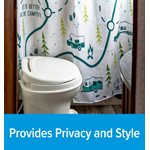 Camco Life if Better at the Campsite RV-Sized Shower Curtain, Map Design