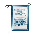 Camco Life is Better at the Campsite Garden Flag, 12-inch x 18-inch, RV Camper