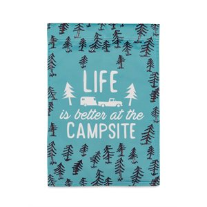 Camco Life Is Better at the Campsite Garden Flag, 12-inch x 18-inch, RV Sketch