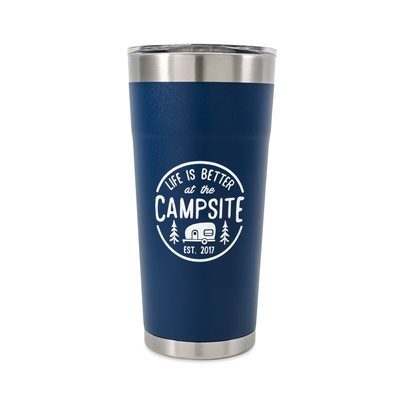 Camco Life is Better at the Campsite Tumbler, 20 oz., Navy