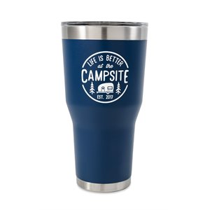 Camco Life is Better at the Campsite Tumbler, 30 oz., Navy
