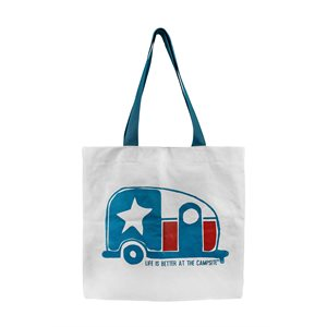 Life is Better at the Campsite Tote Bag, Texas Flag Mini Camper
