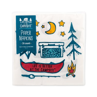 Camco Life is Better at the Campsite Paper Napkins, Campsite Design