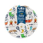 Camco Life is Better at the Campsite Paper Plates, 7-Inch, Campsite Pattern, 25 Count