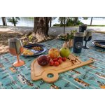 Features an RV and Tree Sketch Design Camco 53380 Life is Better at The Campsite Tablecloth with Bench Covers Provides a Clean Eating Surface for Outdoor Activities