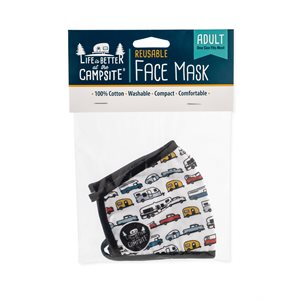 Camco Life is Better at the Campsite Adult Face Mask, RV Design
