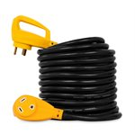 30Amp Power Grip 25' Extension Cord - 90M / 90F125V / 3750W10Ga BilingualcCSAus