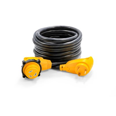 30Amp Power Grip 25' Extension Cord - 90M / 90F-Locking Adapter