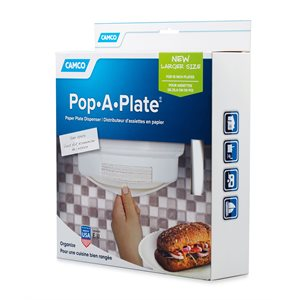 Camco Pop-A-Plate, 10-Inch, White