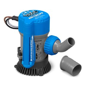 "Bilge Pump, Automatic, 800 / 1100 GPH, 3 / 4"" & 1-1 / 8"" Outlet"